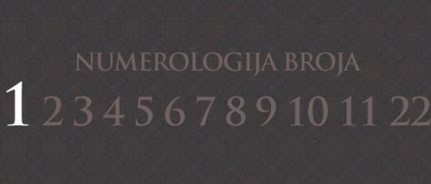 Numerologija za število 1