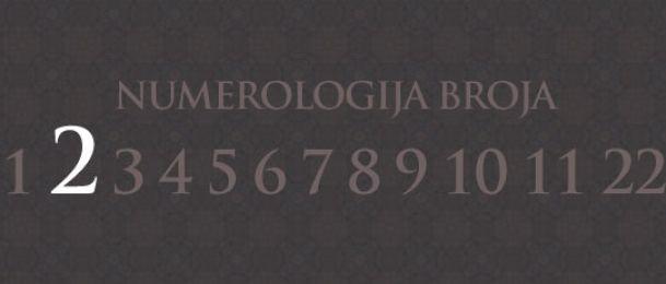 Numerologija za število 2