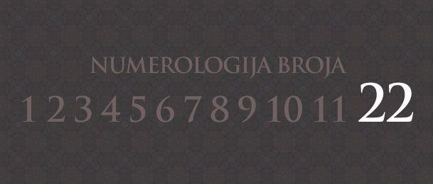 Numerologija za število 22
