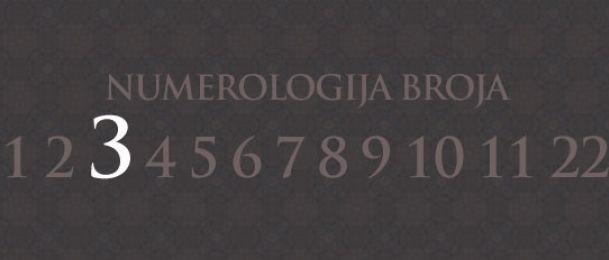 Numerologija za število 3