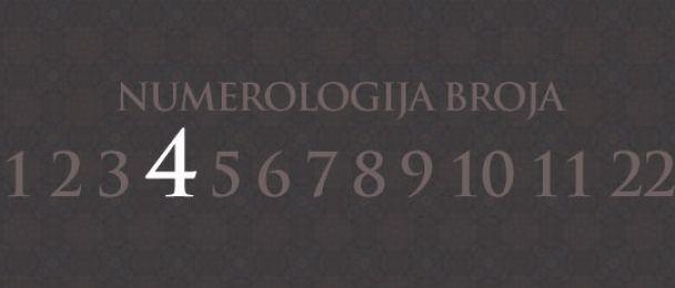 Numerologija za število 4