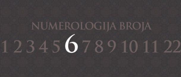 Numerologija za število 6