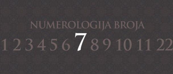 Numerologija za število 7