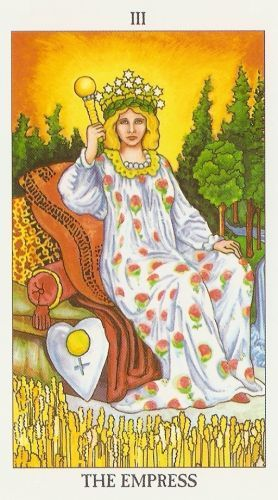 Pomen tarot karte Kraljica