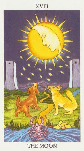 Pomen tarot karte Luna