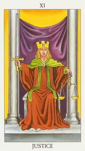 Pomen tarot karte Pravica