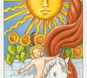 Pomen tarot karte Sonce