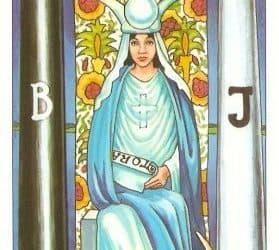 Pomen tarot karte Velika svečenica